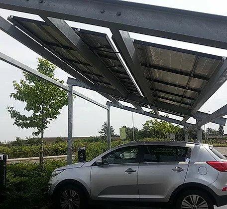 Portal Frame PV Car Shelter